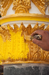 painting gold color