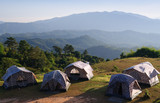 Group of tent, Camping at mountain