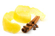 Lemon peel, cinnamon and clove