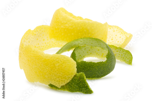 Lemon peel, lime.