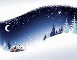 Christmas landscape background - 26810004
