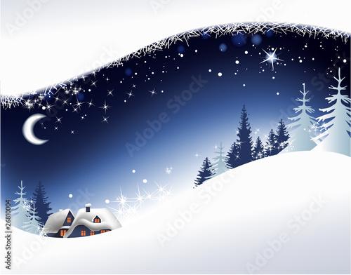 Boże Narodzenie krajobraz tło