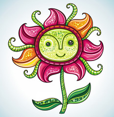 Cute friendly Eco flower