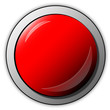 glänzender red button, rot