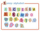 Fototapety Alphabet - lettres capitales pour enfant