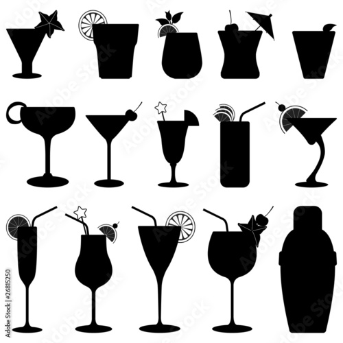 Cocktail Drink Fruit Juice Silhouette - 26815250