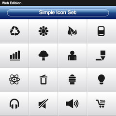 Simple Icon Set #3 - for internet and mobile applications