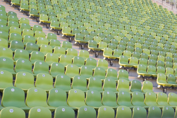 Empty Stadium Seating