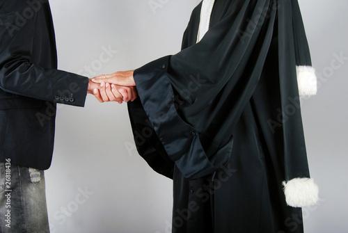 Leinwanddruck Bild Justice - Avocat réconfortant un client