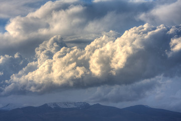 Amazing clouds over Aragats Mountain