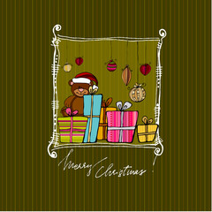 cute Christmas background for your greeting card