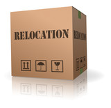 moving in or out relocation cardboard box poster