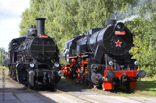 steam locomotives (555.301+434.1001), depot Luzna u Rakovnika, C