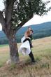 Verliebtes Brautpaar