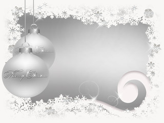 White  Silver Christmas background