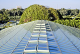 Ecological modern building . Warsaw University.Europe.