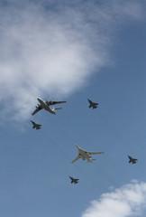 Military aircraft at the parade