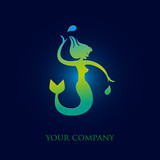 logo entreprise, sirène poster