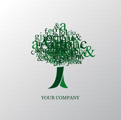 logo entreprise, arbre lettres