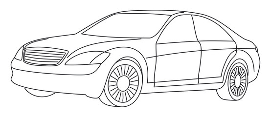 Stylish car - vector