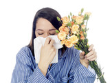 Young Woman with Hayfever. Model Released