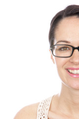 Happy Young Woman Wearing Glasses. Model Released