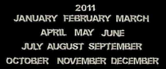 2011 brilliant months for calender