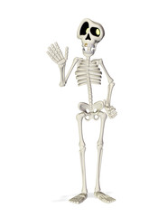 skeleton cartoon hi