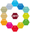 Colorful Hexagons Calendar 2011
