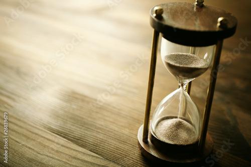 Leinwanddruck Bild hourglass