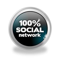 Bottone 3D 100% Social Network