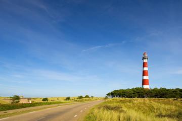 lighthouse in landscape