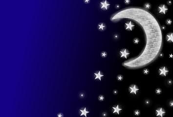 Mond und Sterne