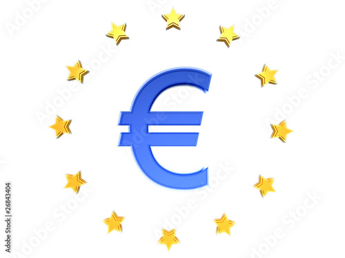 The Euro sign € with EU stars