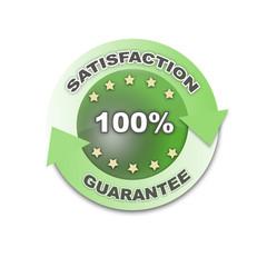 100% Satisfaction Guarantee Green