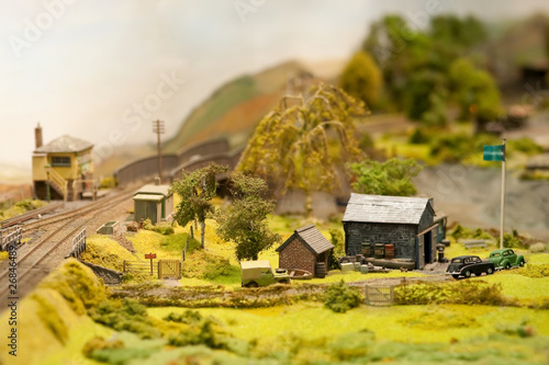 miniature model rural landscape - 26846489