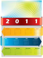 Arrow calendar for 2011