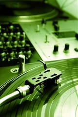 Needle on the vinyl record