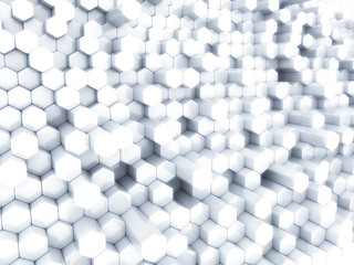 White hexagons