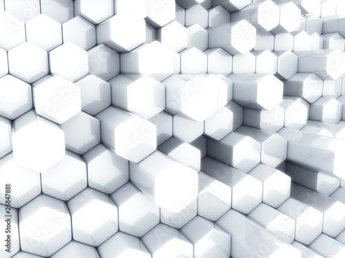 White hexagons