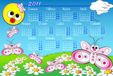 2011 Kid calendar with butterfly - Italian