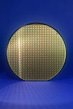 Silicon wafer with reflected chip grid poster