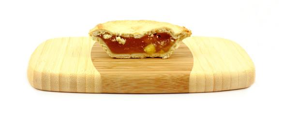 Individual Apple Pie Halved