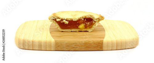 Individual Apple Pie Halved