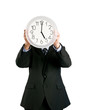 Clock covering face