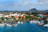 Fototapety Marina on a tropical island.