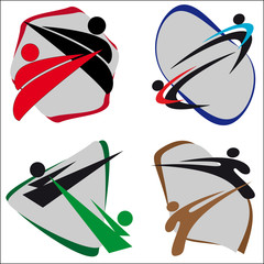 ORIGINAL SIMBOL MARTIAL ARTS .VECTOR SET.