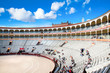 Flagrant colours of the bullring at the Ventas