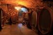 alter Weinkeller, Rotwein Barrique-Fässer, Eichenfässer