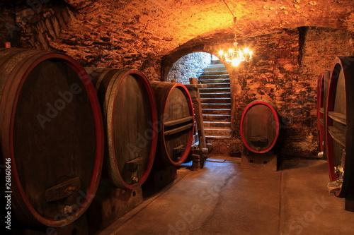 stara-piwnica-na-wino-czerwone-wino-beczki-barrique-debowe-beczki